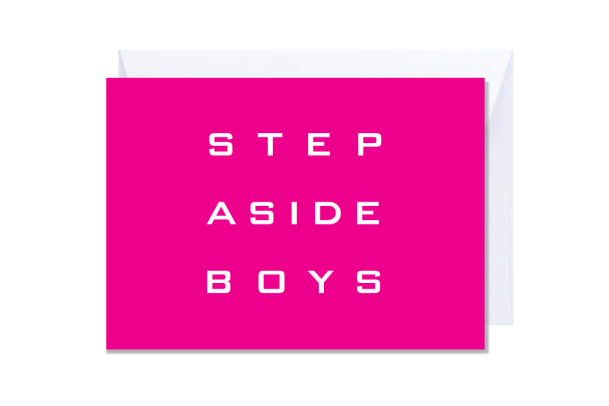'Step Aside Boys' Kate Hill Greeting Card
