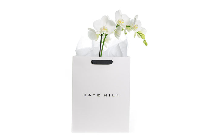 White Orchid Plant in Gift Bag