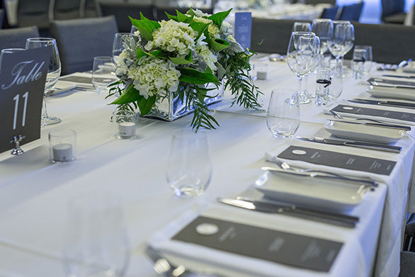 Table Setting With Flower