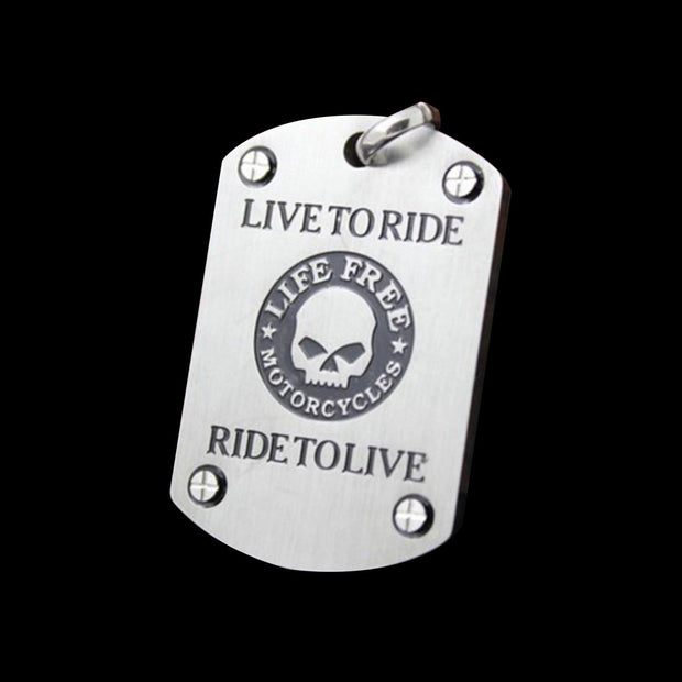 Live To Ride Dog Tag