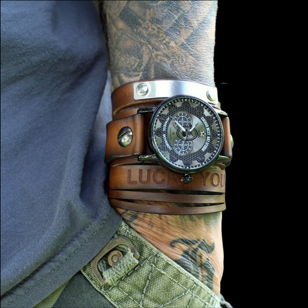 The Adventurer Leather Cuff Watch
