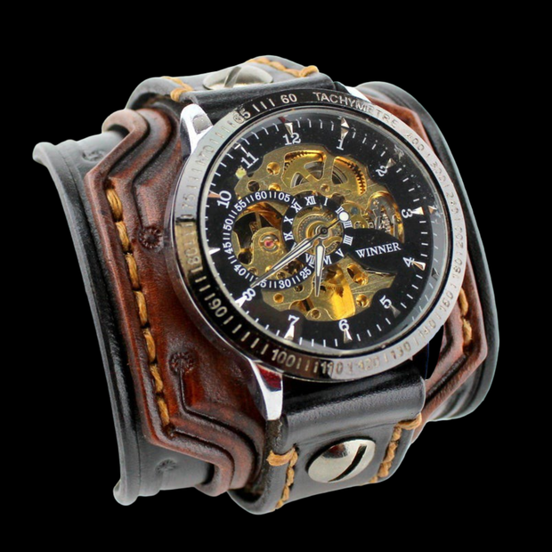 Easy Rider Leather Cuff Watch