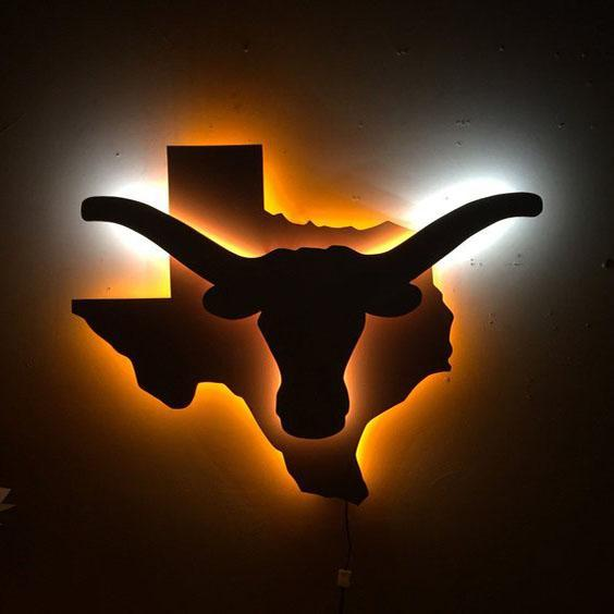 Illuminated Longhorn Sign