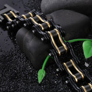 Biker Proud™ Chain Bracelet • Black & Gold