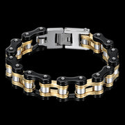 Biker Proud™ Chain Bracelet • Gold Silver Black Red or Blue