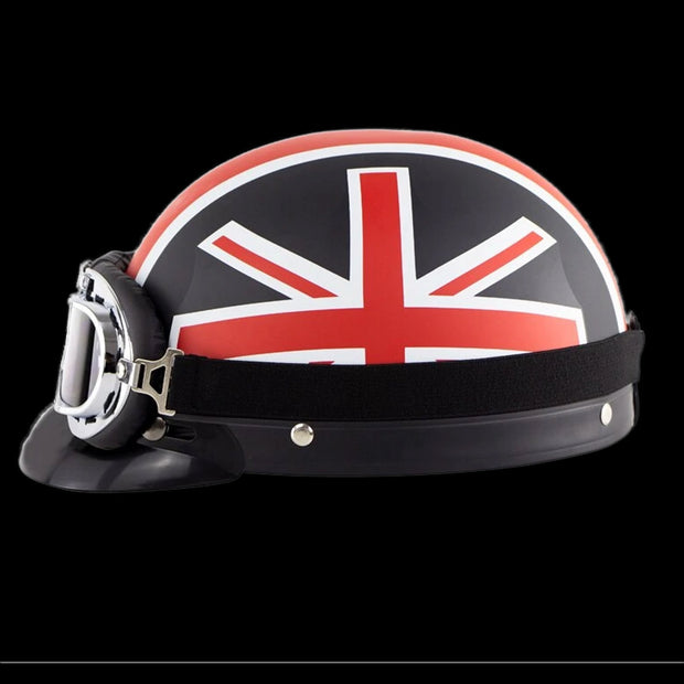 British Invasion DOT Half Helmet