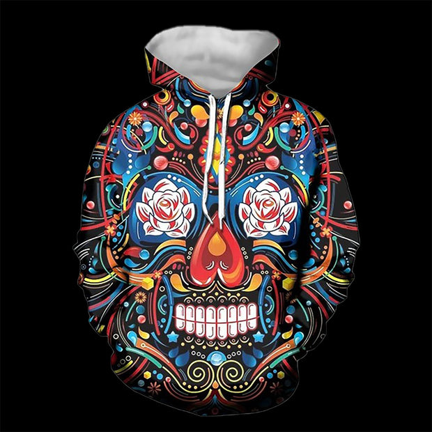 Colorful Sugar Skull Hoodies