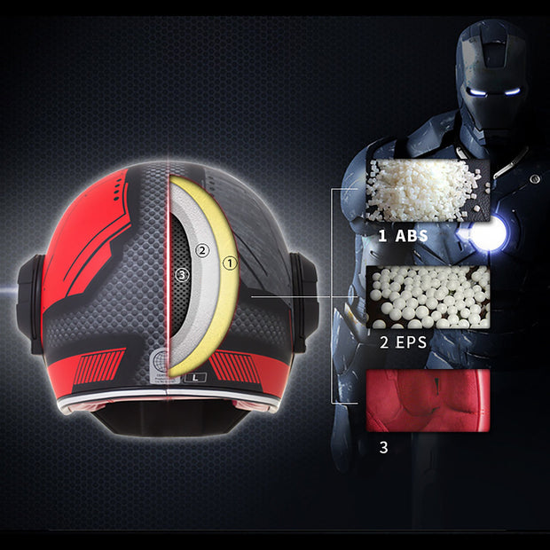 Cyborg Invasion DOT Flip Up Helmets
