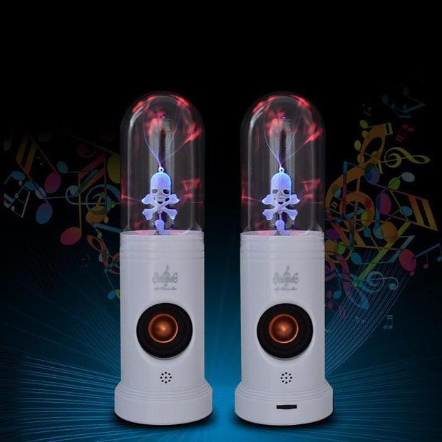 Plasma Ball Skull Speakers