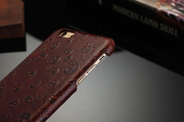 Leather Skull iPhone Case