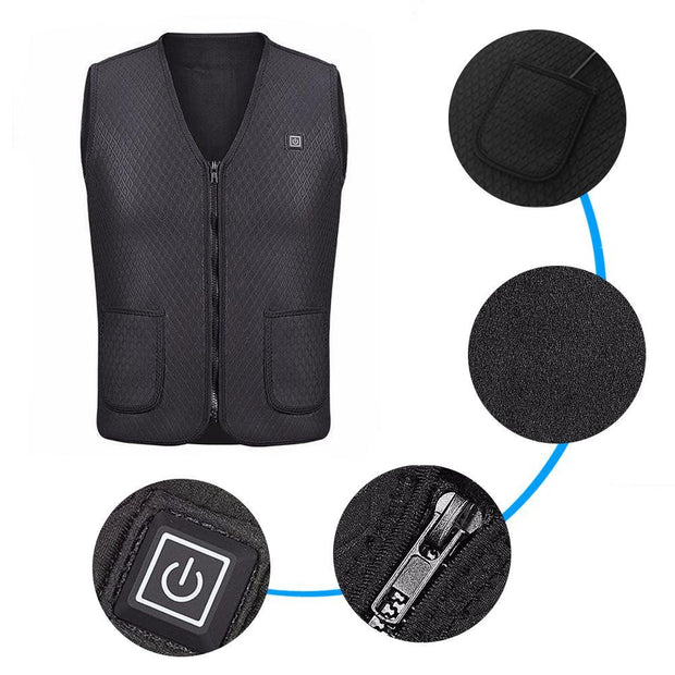 Thermal USB Biker Vest