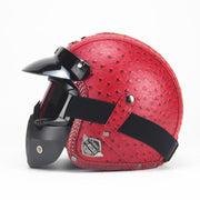 Vintage PU Leather Helmet