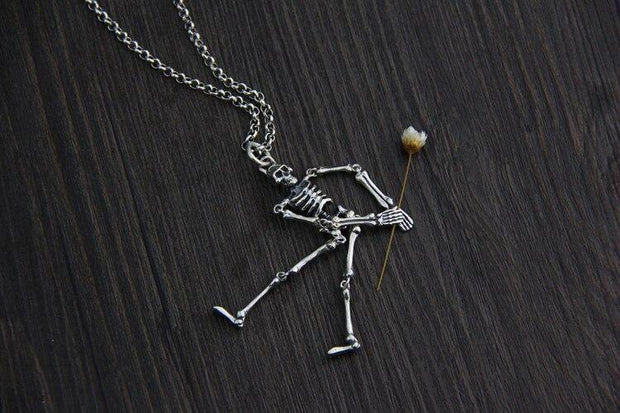 Silver Skeleton Necklace