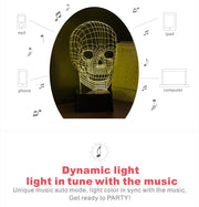Bluetooth Skull Lamp & Speaker