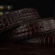 Crocodile Shaped Leather Belt