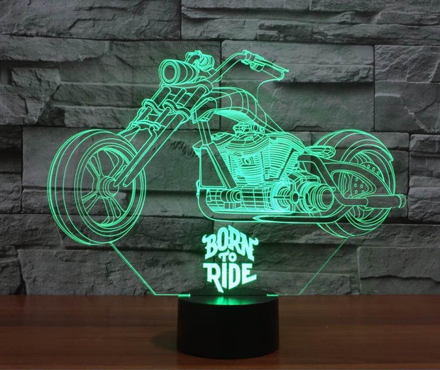 Born to Ride 3D Lamp