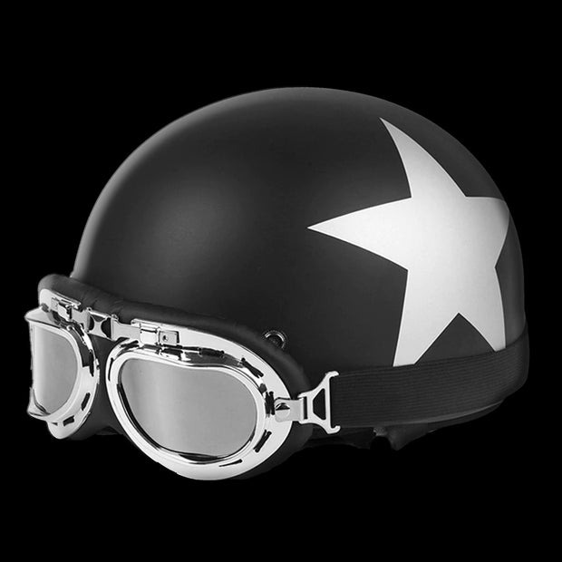 White Star DOT Half Helmet