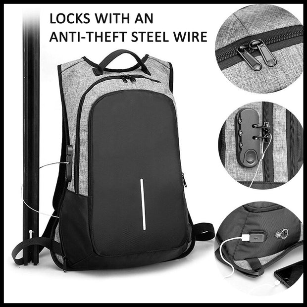 Antitheft Waterproof USB Backpack