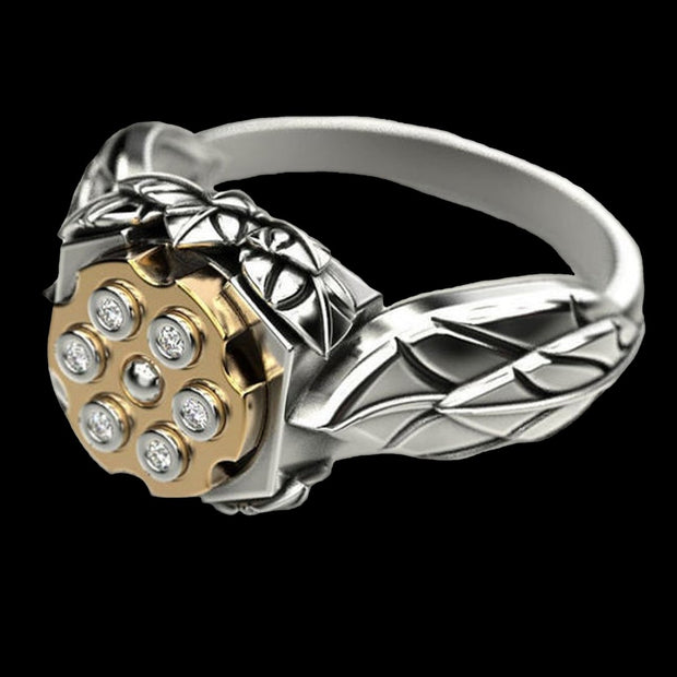 Floral 6 Shooter Ring