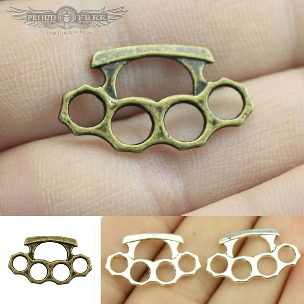Miniature Brass Knuckle Pendants