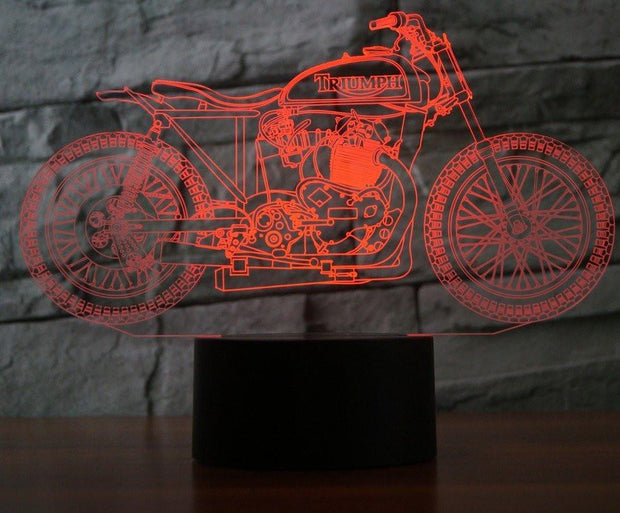 Vintage Motorcycle 3D Lamp