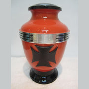 Biker Cremation Urn—Cross