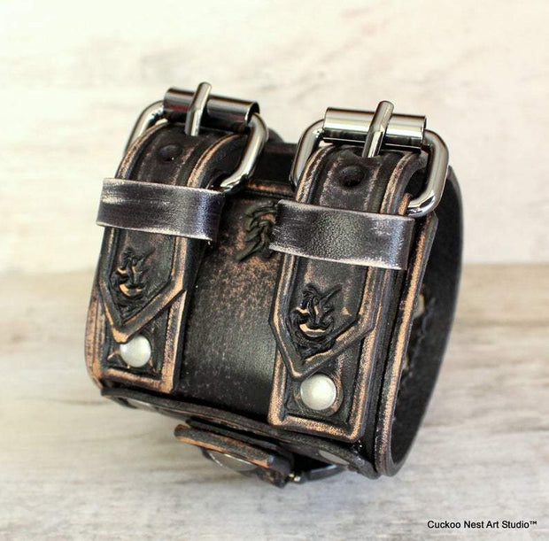 Vintage Leather Cuff Watch