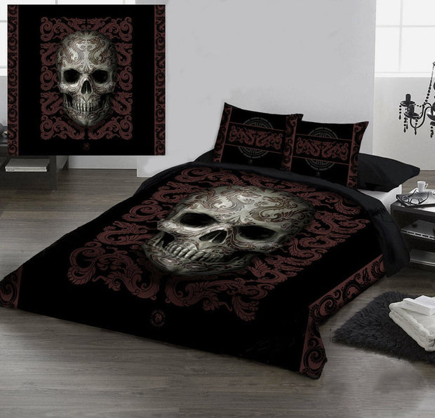 Skull Duvet Cover Set QU