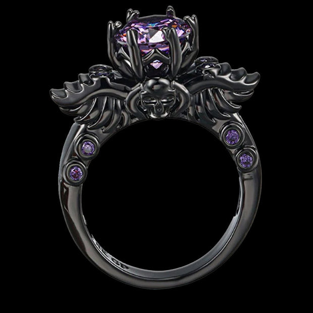 Skull & Wings Engagement Ring