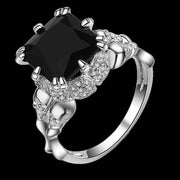 Biker Skull Engagement Ring