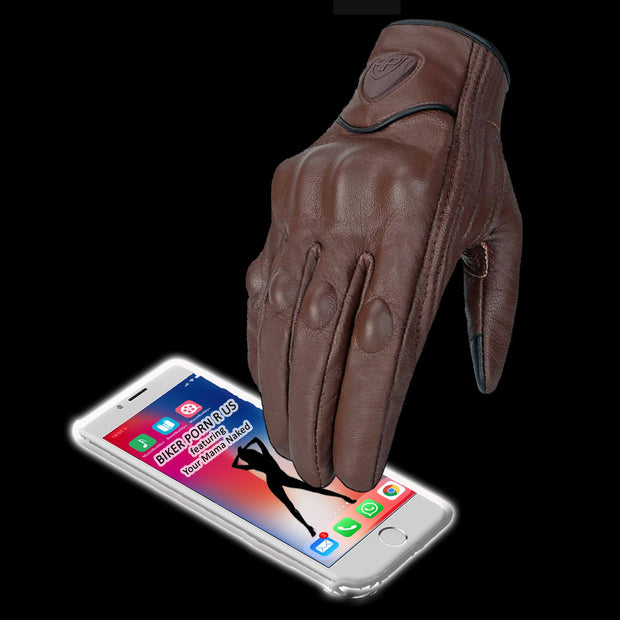 Touchscreen Leather Riding Gloves