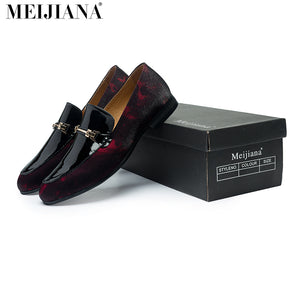 Handmade  leather Men Loafers,MeiJiaNa Brand 2016 Design Soft leather  Shoes Men