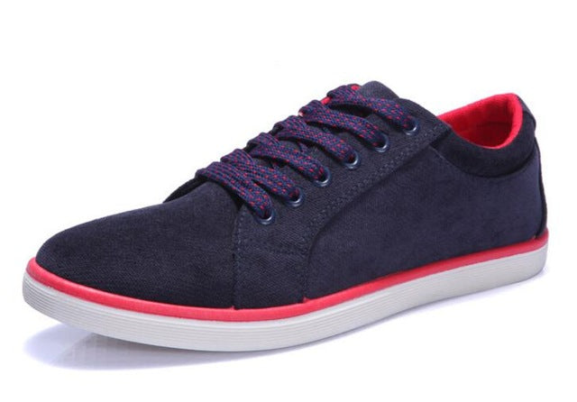 Autumn new men's suede canvas shoes, non-slip rubber at the end of men with vulcanized shoes flat shoes