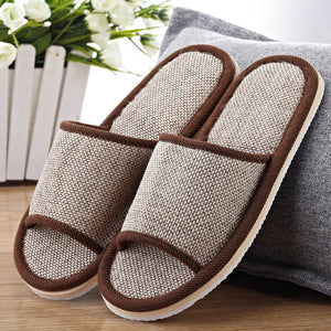 2017 Natural Flax Home Slippers Indoor Floor Shoes Silent Sweat Slippers For Summer Women Sandals Slippers WS301