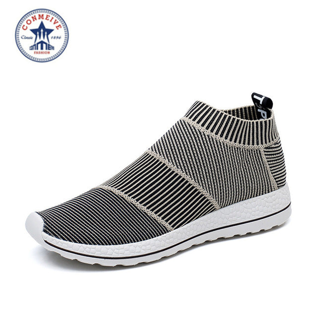 Hot Sale Breathable Men Shoes Mesh (air Mesh) Superstar Sneakers Light Flats Mens Loafers Casual Slip on Male Chaussure Homme
