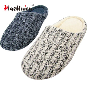 New Arrival Men Home Slippers Shoes Solid Winter  Woolen Wrap Toe Footwear England Style Home Shoes For Men Pantuflas