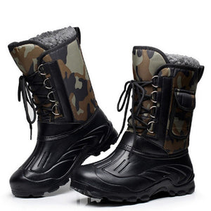 Designer Men Winter Military Boots Male Snow Ankle Boots Warm Waterproof Fur Tactical Boot Shoes Chaussure Homme