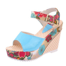 2018 Women Sandals Summer Platform Wedges Casual Shoes Woman Floral Super High Heels Open Toe Slippers Sandalias Zapatos Mujer
