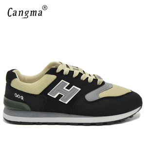 CANGMA Brand Men's Casual Shoes Men Mesh Light Breathable Sneakers Male Spring Autumn Lace Up Shoes