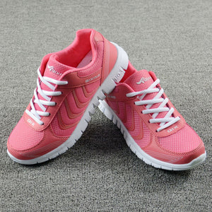 Fast delivery Breathable Summer Woman Casual shoes 2018 New laces-UP mesh flat women fashion sneakers shoes tenis feminino