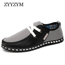 ZYYZYM Men Casual Shoes Light Breathable Summer Driving Shoes For Man Large Size