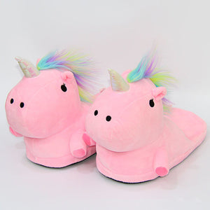 OUTAD Unicorn Slippers Winter Warm Home Women Shoes Fur Mules Shoes For Women Men Zapatos Mujer ZX310201