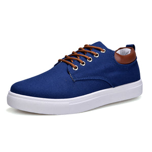 ZYYZYM Men Canvas shoes Lace-Up Style Breathable Top Fashion Trend Student Youth Shoes Large size EUR 45-46