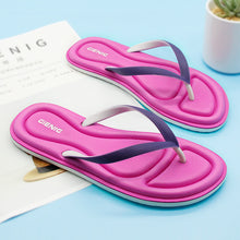Gienig 2018 summer fashion, soft bottom, leisure sandals, flip flops, women's outdoor beach slippers.Flip flops