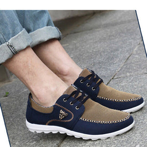 Merkmak Summer Men Shoes Trend Canvas Shoes Male Casual Shoes Men's Low Board Outwear Flats Breathable Driving Shoes Big Size 48