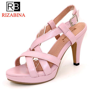 RizaBina Size32-43 Women's High Heel Sandals Gladiator Shoes Women Lady Sexy Platform Sandals Heels Summer Shoes Sandals PA00905