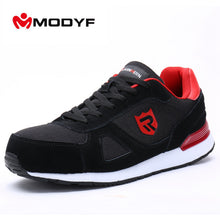 MODYF Men Summer Spring Steel Toe Work Safety Shoes Casual Skateboard Sneaker Ankle Protective Footwear