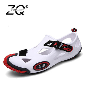 ZOQI Summer Shoes Men Sandals Outdoor Water Shoes Men Beach Sandals Black Mens Footwear Zapatillas Hombre Sapato Masculino