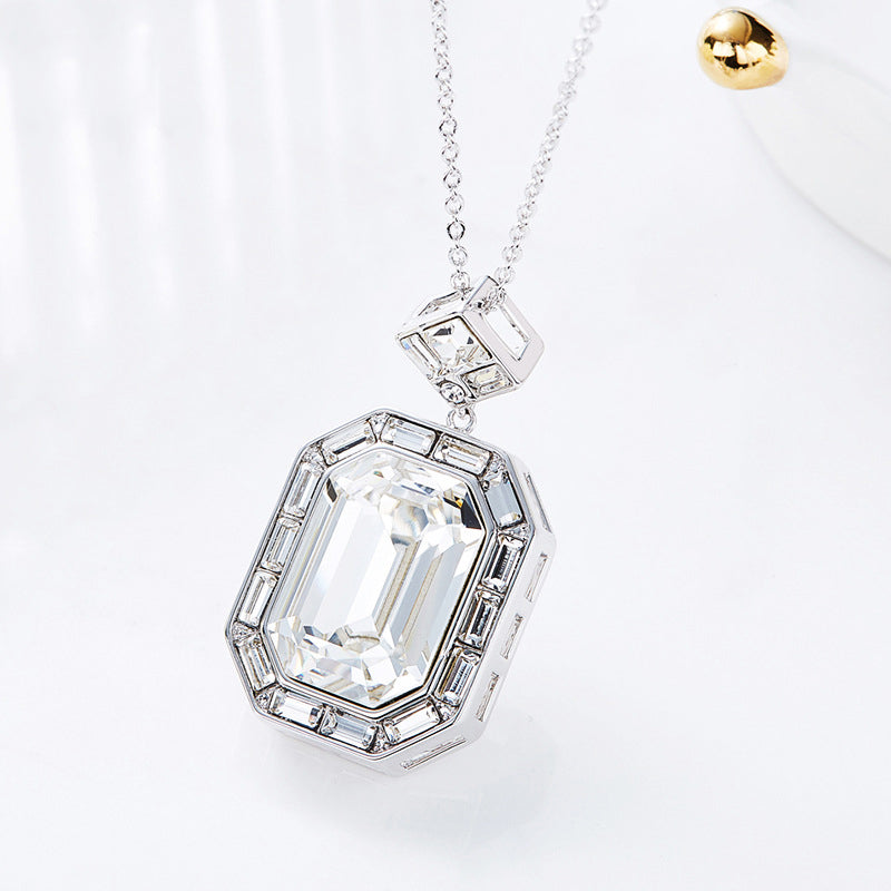 SWAROVSKI Square Pendant Necklace