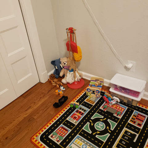 My kid`s current toy situation.